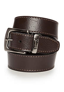 Reversible Solid Belt With Logo Boys 8-20