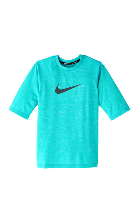 Nike® Boys 8-20 Heather Elbow Sleeve Swim Rash