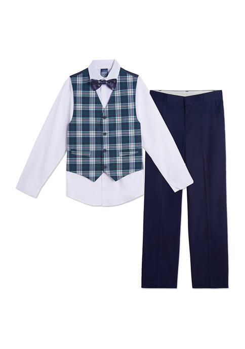 Boys 8-20 Royal Tartan Vest Set