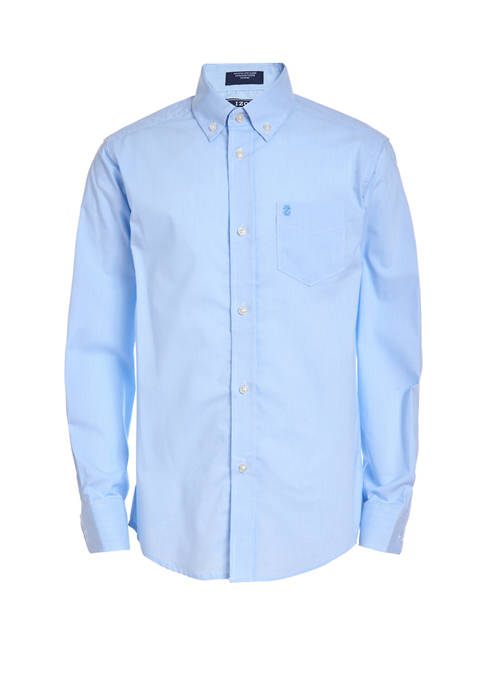 Boys 8-20 Stretch Long Sleeve Mini Pinstripe Shirt
