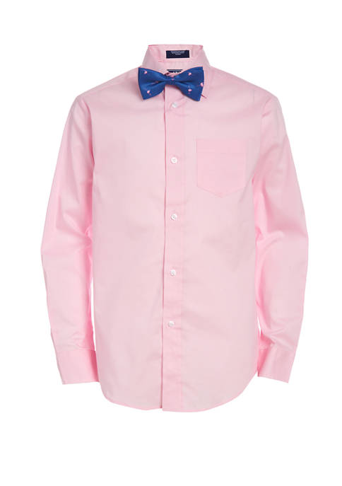Boys 8-20 Button Down Shirt with Bow Tie