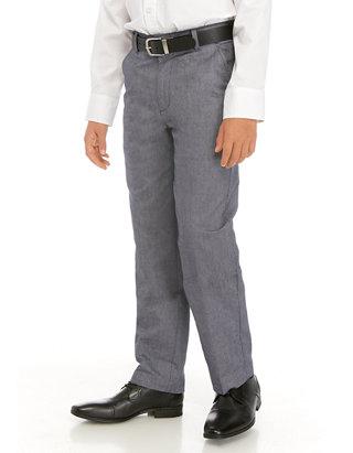 IZOD Boys Oxford Flat Front Dress Pant