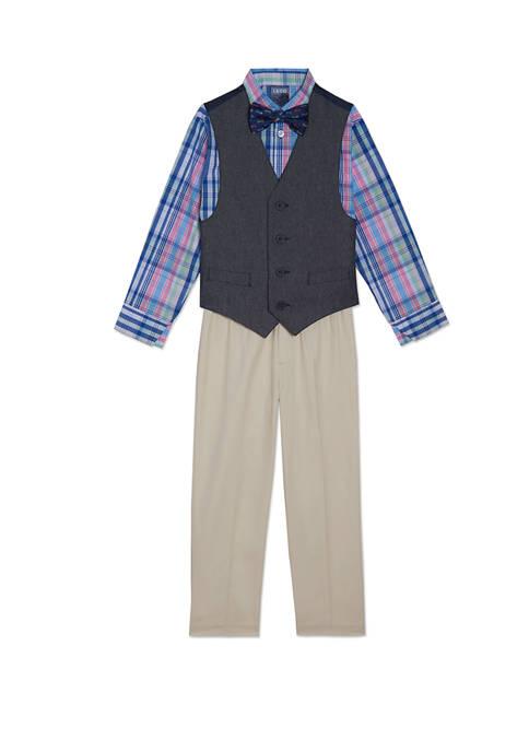 Boys 4-7 Twill Vest Set