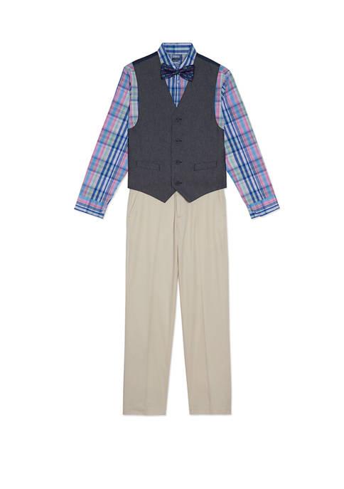 Boys 8-20 Twill Vest Set