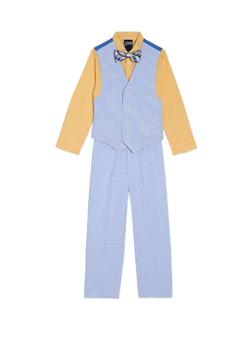 Boys 4-7 Seersucker Vest Set