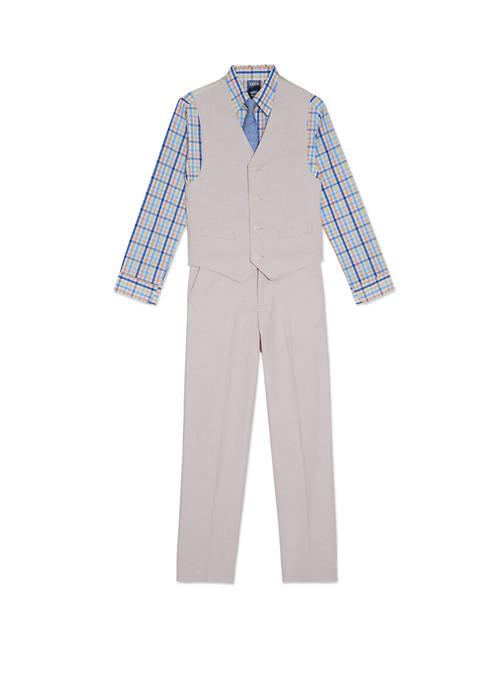 IZOD Boys 4-7 Houndstooth Vest Set
