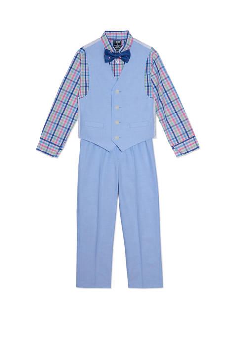 Boys 4-7 Oxford Vest Set