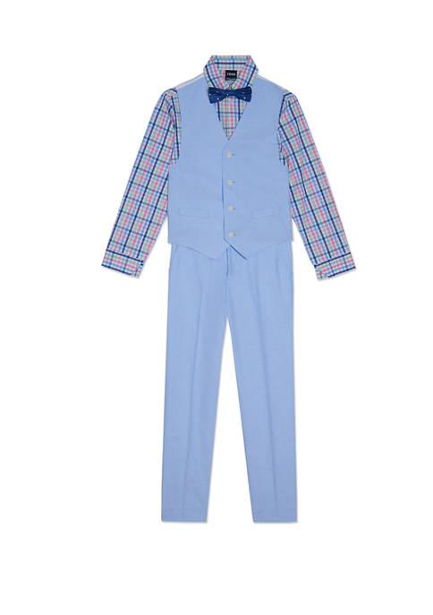 IZOD Boys 8-20 4 Piece Oxford Vest Set