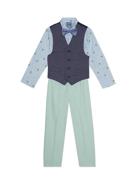 IZOD Boys 4-7 Contrast Oxford Vest Set