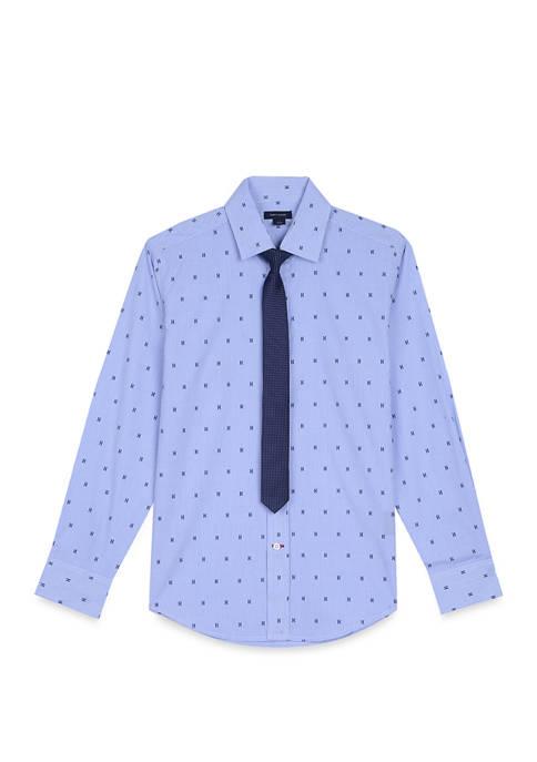 Boys 8-20 Long Sleeve Print Shirt