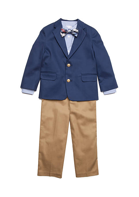 IZOD Navy Suit Jacket Set Boys 4-7