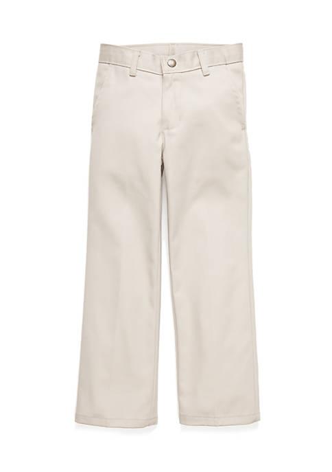 Cheap IZOD Basic Flat Front Twill Pants Boys 4-7