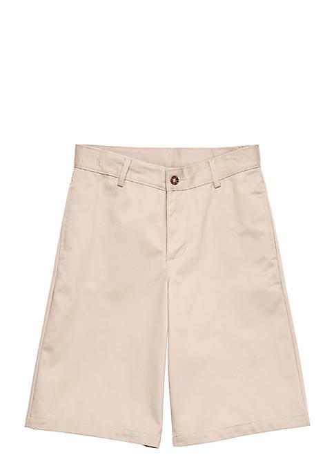 IZOD Uniform Flat Front Shorts Boys 4-7