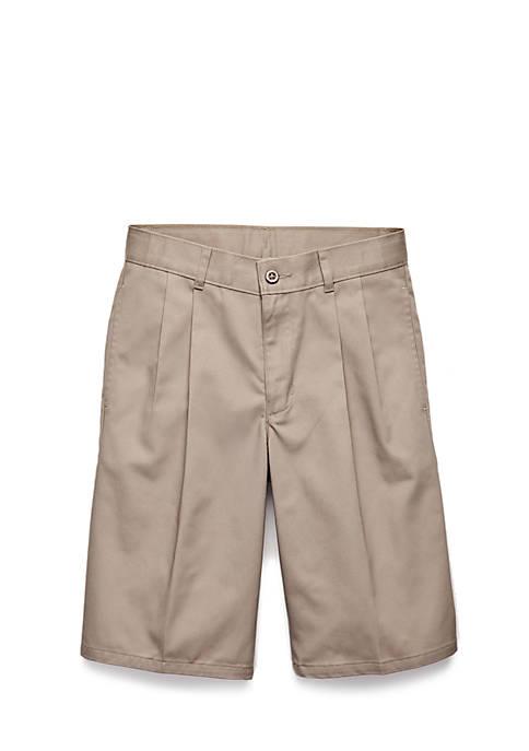 IZOD Uniform Pleated Shorts Boys 4-7