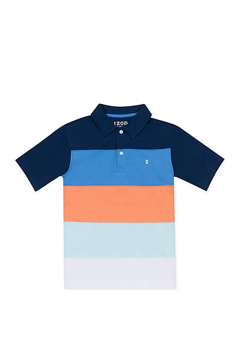 Boys 4-7x Color Blocked Polo