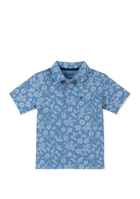 Boys 4-7x Tropical Print Polo