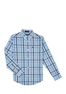 Boys 2-7 Long Sleeve Vineyard Stretch Plaid Shirt