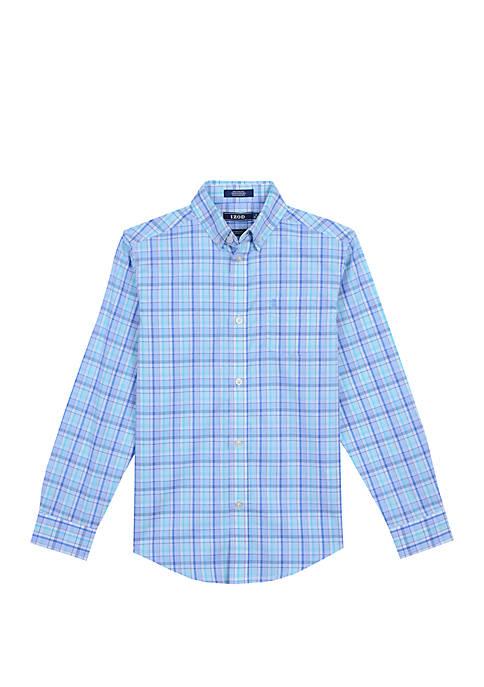 IZOD Boys 4-7 Saltwater Plaid Shirt