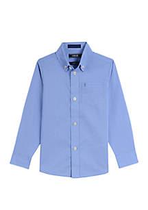 IZOD Boys 4-7 Micro Houndstooth Dress Shirt
