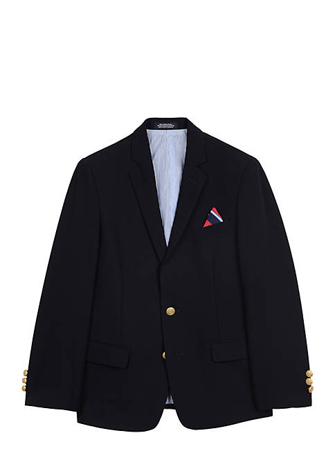 IZOD Boys 4-7 Rep Navy Blazer