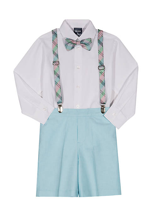 IZOD 4-Piece Button-Down, Suspenders, Bow Tie and Short