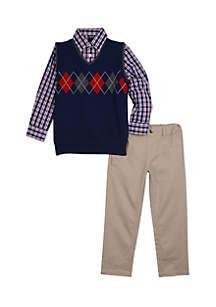 IZOD Boys 4-7 Argyle Chest Sweater Set