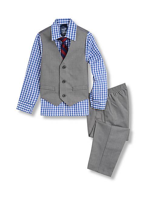 IZOD Boys 4-7 Sharkskin Vest Set