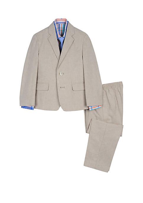 IZOD Boys 4-7 Linen 4 Piece Suit Set
