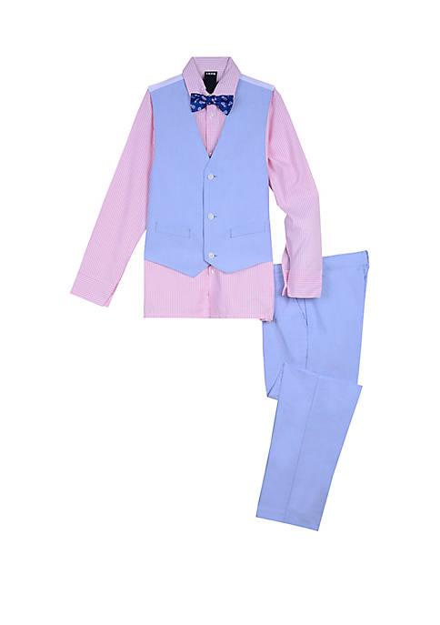Boys 4-7 Oxford 4 Piece Vest Set