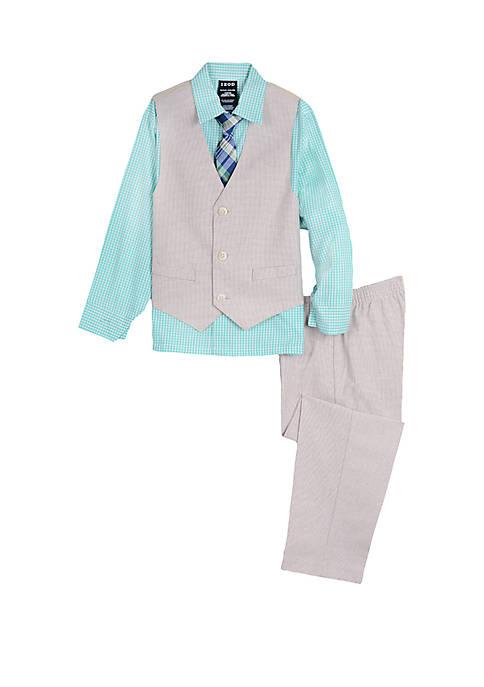 IZOD Boys 4-7 Micro Houndstooth Vest Set