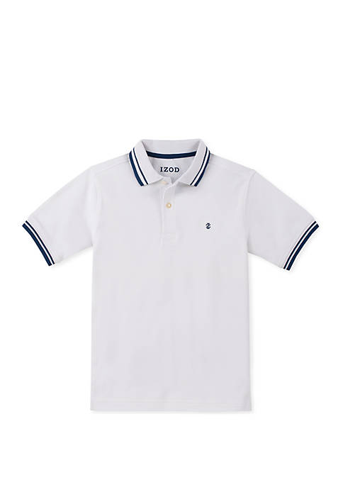 IZOD Boys 8-20 Short Sleeve Solid Polo Shirt