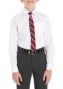 Boys 8-20 2-Piece Button Front and Tie Set