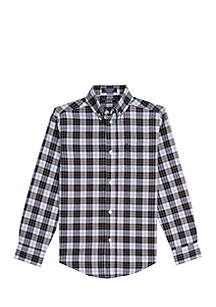 Boys 8-20 Holly Plaid Stretch Woven Shirt