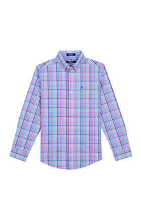 438811302 IZOD Boys 8-20 Road Map Plaid Shirt ...