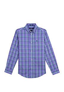 IZOD Boys 8-20 Castaway Plaid Shirt