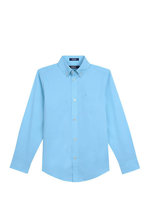 Boys 8-20 Solid Button Down Shirt