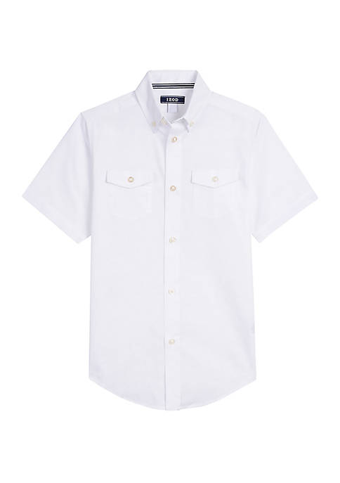 Boys 8-20 Short Sleeve Button Front Shirt