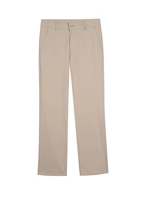 IZOD Boys 8-20 Slim Flat Front Pants