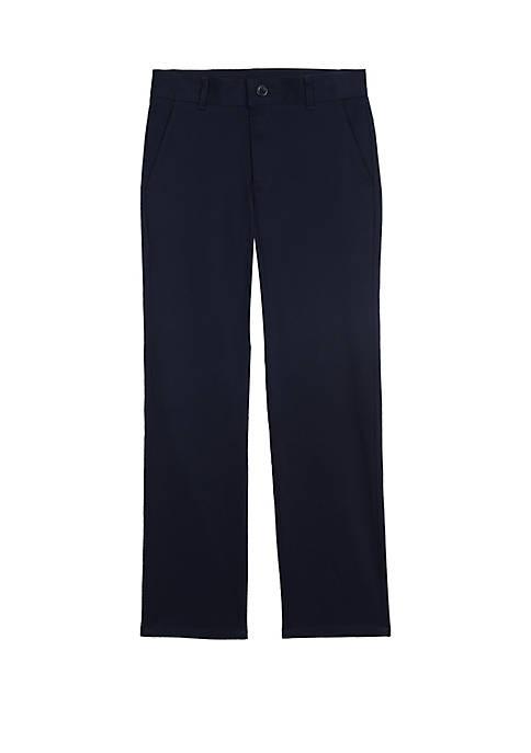 IZOD Boys 8-20 Husky Flat Front Pants