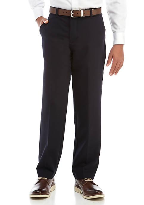 IZOD Boys 8-20 Basic Stretch Husky Dress Pants