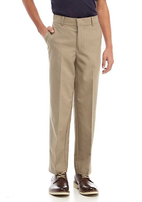 IZOD Boys 8-20 Husky Basic Stretch Dress Pants