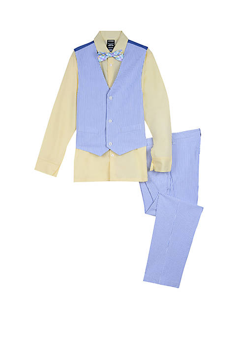 IZOD Boys 8-20 Seersucker Vest Set