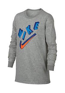 Boys 8-20 Nike Logo Long Sleeve Tee