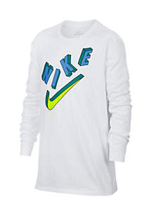Boys 8-20 Nike Logo Long Sleeve Tee