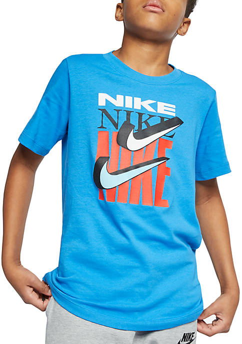 Nike® Boys 8-20 Double Swoosh Graphic Short Sleeve