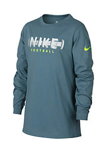 Boys 8-20 Football Laces Long Sleeve Tee