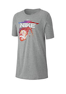 Nike® Boys 8-20 Flaming Football Short Sleeve T Shirt