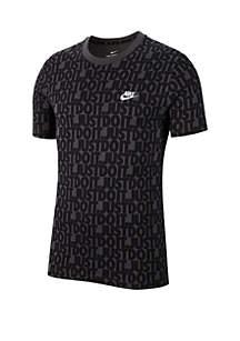 Nike® Boys 8-20 Just Do It AOP Short Sleeve Tee
