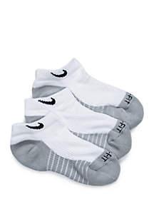 Nike® Boys 4-7 3 Pack Cushioned Dri-Fit No Show Socks