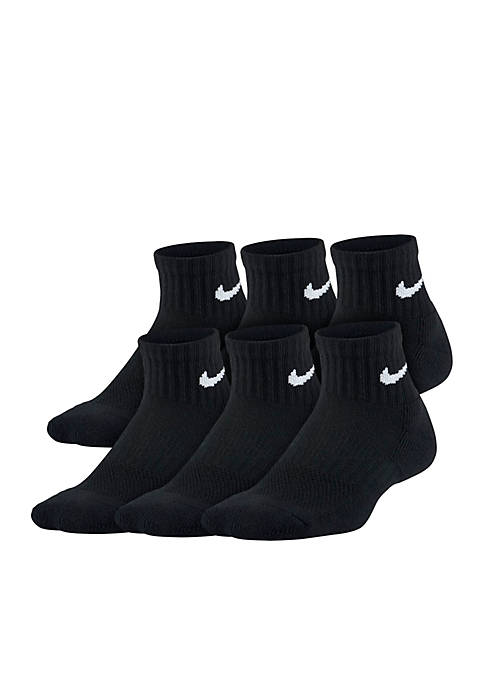 Nike® Unisex 6-Pack Performance Cushioned Quarter Training Socks